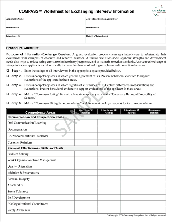 Job interview evaluation form template maxwellsz