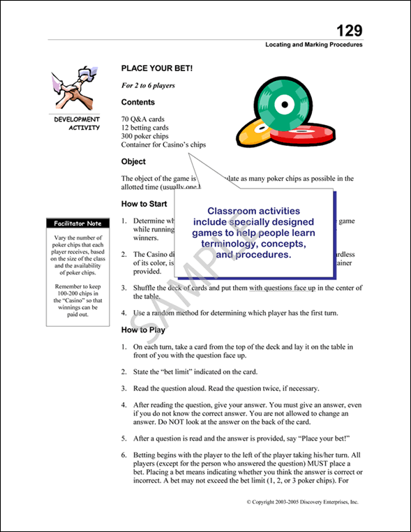 PULSE Classroom Activities Guide Sample Page 5