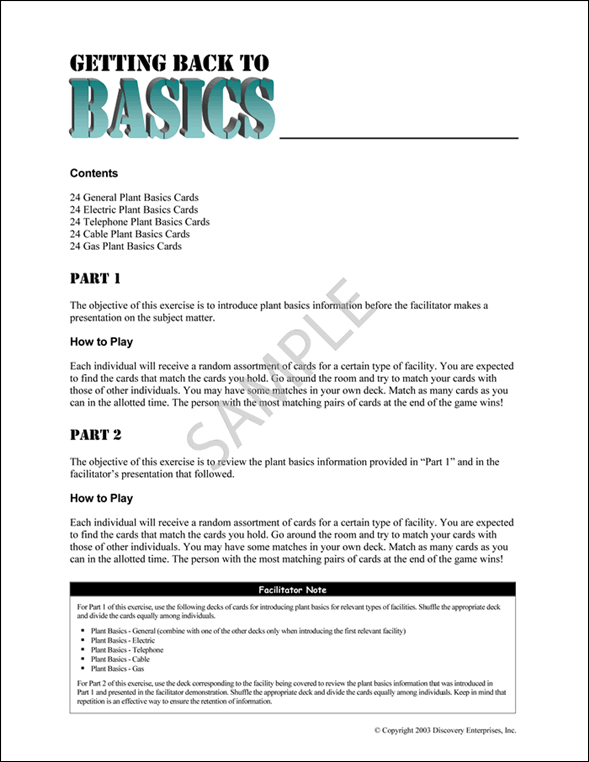 PULSE Getting Back to Basics Sample Page